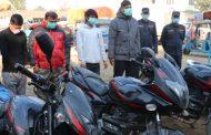 मोटरसाइकल चोरी गर्ने चार जना पक्राउ